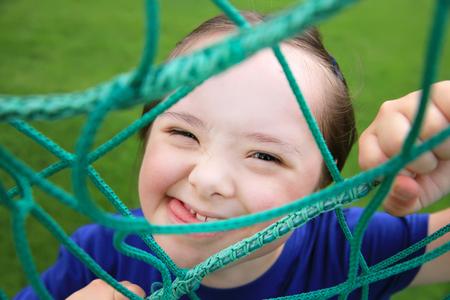 Little girl have fun on the stadium Zdjęcie Seryjne - 67902041