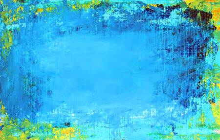 abloom: Art abstract blue background painted with acrylic colors.