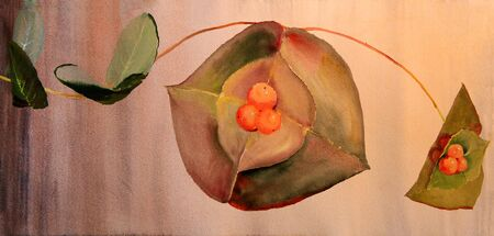 Watercolor painting of beautiful plant Lizenzfreie Bilder