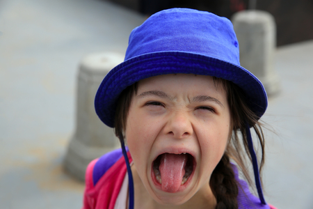 Little girl have fun Lizenzfreie Bilder