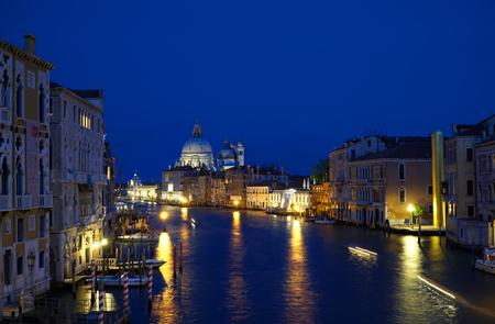 Grand canal cityscape in the evening in Venice, Italy Lizenzfreie Bilder