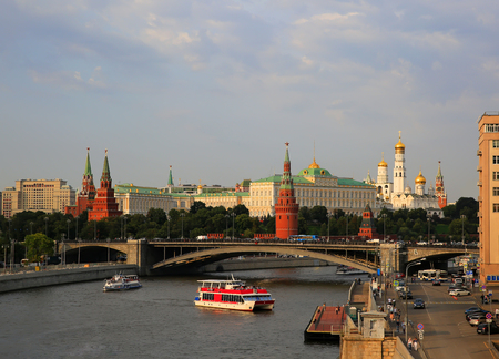 Moscow river and Kremlin in Moscow, Russia