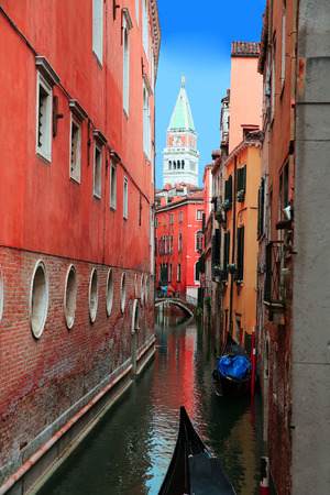 romantic places: Canal cityscape in Venice, Italy