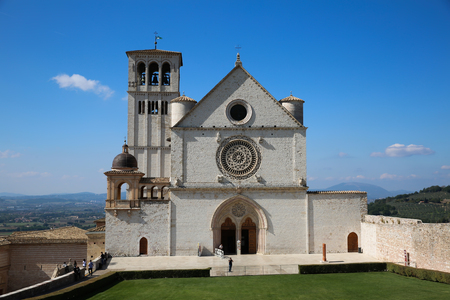 Basilica of Saint Francis (Basilica di San Francesco) in Assisi, Italy