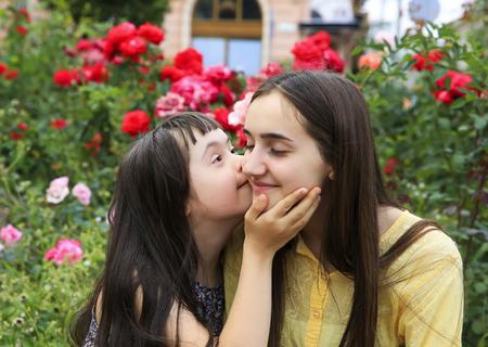 Glückliche Familienmomente im Park
