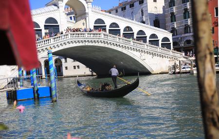 Rialto bridge in Venice, Italy Editorial