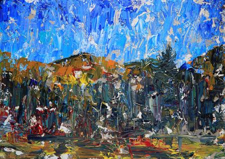 Absract Kunstmalerei von Bergen