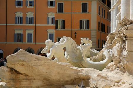 Trevi fountain detail, Rome, Italy