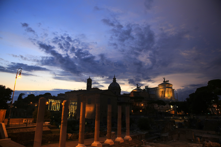 Roman Forum in Rome, Italy - night view