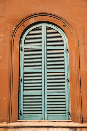 Old window in Rome, Italy