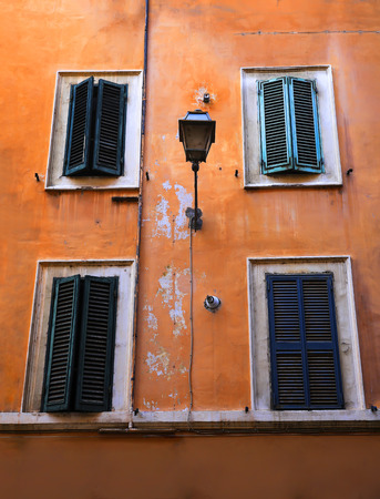 Old windows in Rome, Italy