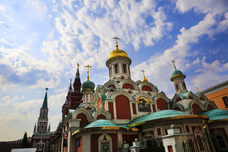 Russian orthodox church on the Red Square in Moscow, Russia