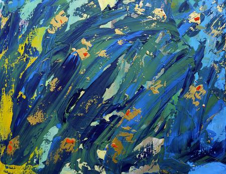 Cuadro de arte abstracto con colores acrílicos