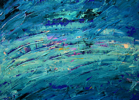 Abstract art painting with acrylic colors