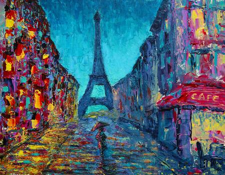 Cuadro de arte callejero de París