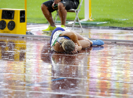 TAMPERE, FINLAND,  July 13: NIAMH EMERSON (GBR), English track and field athlete win gold medal in heptathlon in the IAAF World U20 Championship Tampere, Finland 13th July, 2018.