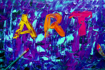 Art abstract sign painting