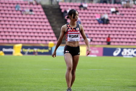 TAMPERE, FINLAND,  July 13: AYAKA KORA from Japan win silver medal in the long jump on the IAAF World U20 Championships on July 13, 2018.
