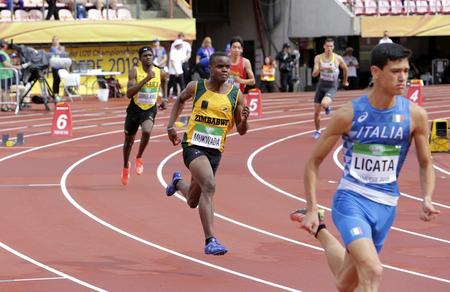 TAMPERE, FINLAND, July 12: NORMAN MUKWADA from ZIMBABWE run 400 metrs hurdles heats on the IAAF World U20 Championship in Tampere, Finland 12 July, 2018.