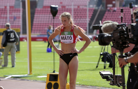 TAMPERE, FINLAND, July 11: SARA MАTO from HUNGARY after 400 metres hurdles in the IAAF World U20 Championship in Tampere, Finland 11 July, 2018.