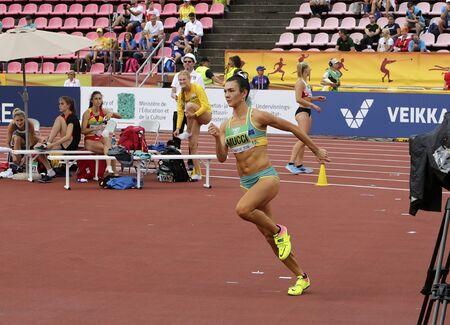 TAMPERE, FINLAND,  July 12: CELESTE MUCCI (AUSTRALIA) on high jump heptathlon event in the IAAF World U20 Championship Tampere, Finland 12 July, 2018.
