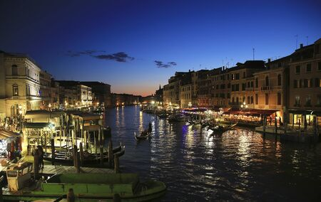 Landscape of  the Venice Grand Canal in the evening 版權商用圖片