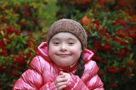 Portrait of beautiful young happy girl Standard-Bild