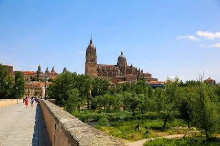 View of the Old Cathedral in Salamanca, Spain