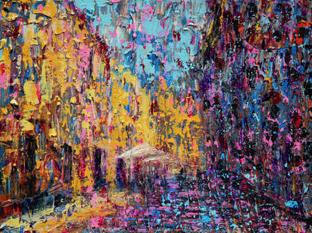 Abstract art painting of the Salamanca Spain