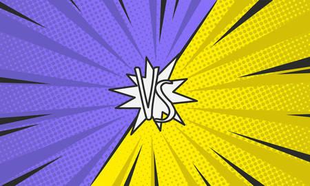 Comic book versus background. Pop-art style. Template. Vector illustration. Illustration