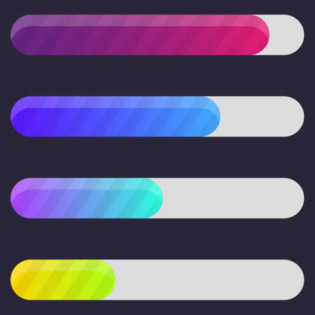 Colorful Progress bar illustration. Vettoriali
