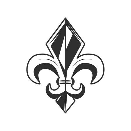 Fleur de lis, icon vector illustration.