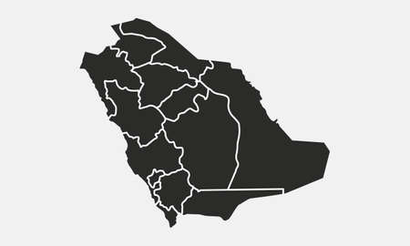 Saudi-Arabien-Karte isoliert auf weißem Hintergrund. Hintergrund Saudi-Arabiens. Karte von Saudi-Arabien. Vektor-Illustration