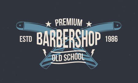 Vintage barbershop . Retro print, poster for barber shop. Abstract background for hipster haircuts salon. Vector illustration