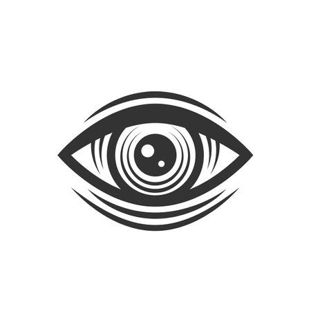 Engraved vintage eye. Illuminati, Occult symbol. Eye of Providence. Vintage tattoo eye. Vector illustration