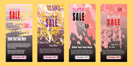 Special offer and sale banner discount up to 50% template design. Sale banner template design, Super sale special offer set. Discount Banner Promotion Template. Vector illustration