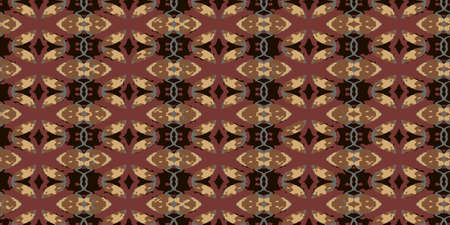 Ethnic style carpet texture. Seamless textile ornament. Vector seamless pattern.