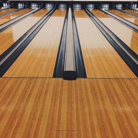 bowling alley: Bowling alley Stock Photo