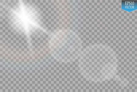 special effect: Transparent sunlight special lens flare light effect Illustration