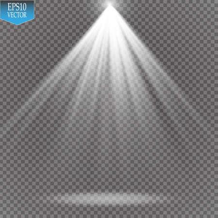 night club interior: Vector Spotlights. Scene. Light Effects
