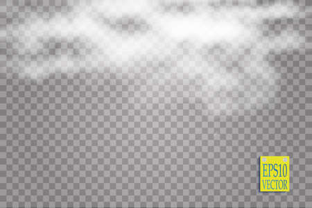 condensation: Fog or smoke isolated transparent special effect. White vector cloudiness, mist or smog background. Vector