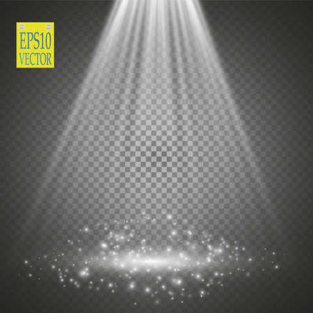 ray of light: Vector Spotlights. Scene. Light Effects Magic concept