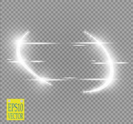 Résumé du semiconducteur de lumière de vecteur de luxe et effet d'étincelle. Cadre rond violet brillant brillant sur transparent. Le fond en mouvement de Starlight. Glow espace flou pour le message ou le logo Banque d'images - 85649502