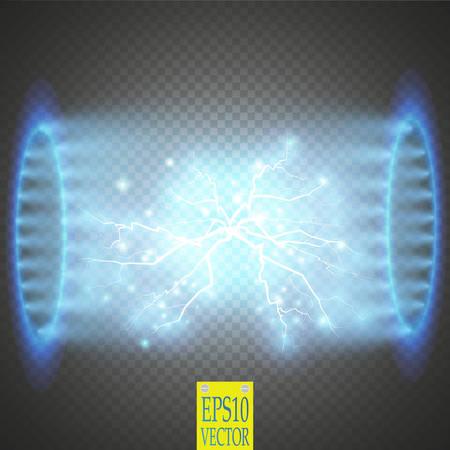 UFO lichtstraal illustratie. Stock Illustratie