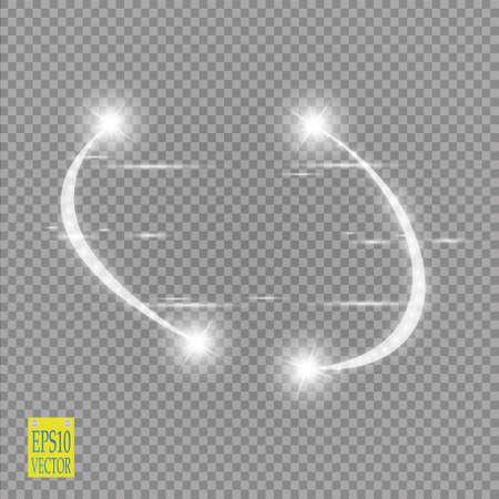 Abstrait demi-cercle de lumière de vecteur de lumière et effet de lumière d'étincelle. Cadre rond violet étincelant brillant sur transparent. Fond mobile de Starlight. Glow espace flou pour un message ou un logo. Vecteur Banque d'images - 86412602