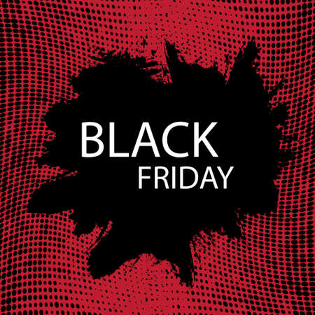 tough: Black Friday Sale handmade lettering, calligraphy with film grain, noise, dotwork, grunge texture and dark background for logo, banners, labels, badges, prints, posters, web. Vector illustration. Illustration