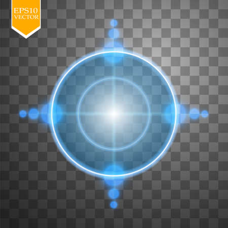 sniper: Neon Target isolated. Game Interface Element. Vector illustration Illustration