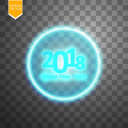 happy new year 2018 with target on transparent backgraund background