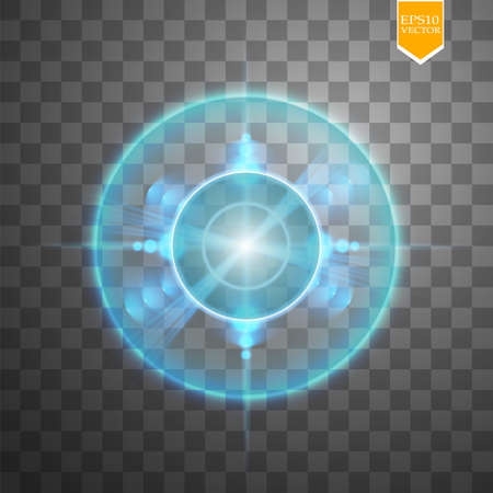 Neon Target isolated. Game Interface Element. Vector illustration Stock Photo