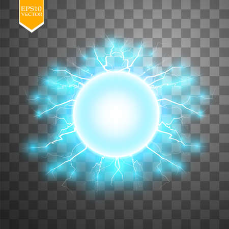 Blue energy ring abstract. Conceptual vector design with free area in center for any object.
